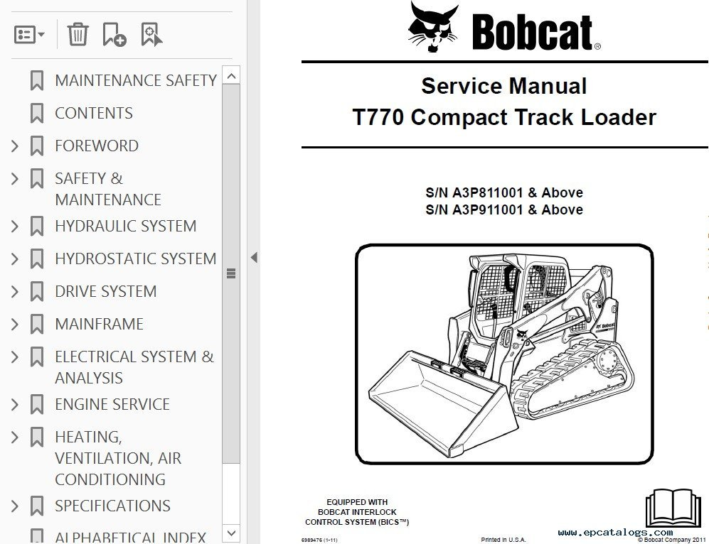 Loader Bobcat 753 Skid Specs