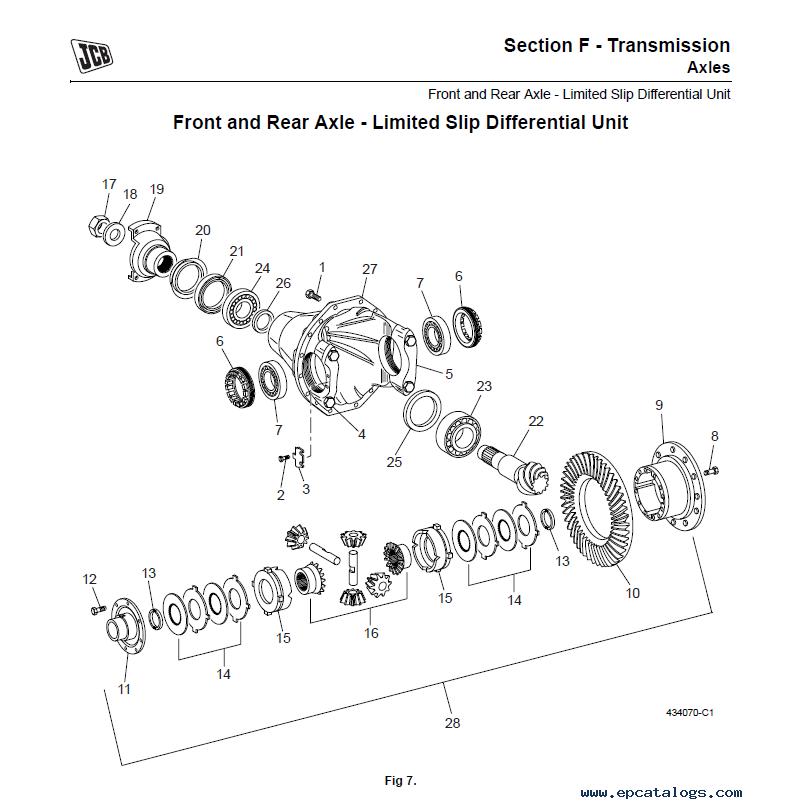 JCB Articulated Dump Truck 722 Service Manual PDF