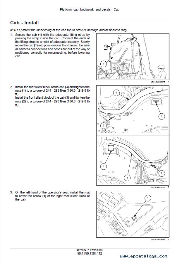 New Holland Wheel Loaders W50C W60C W70C W80C Manuals PDF