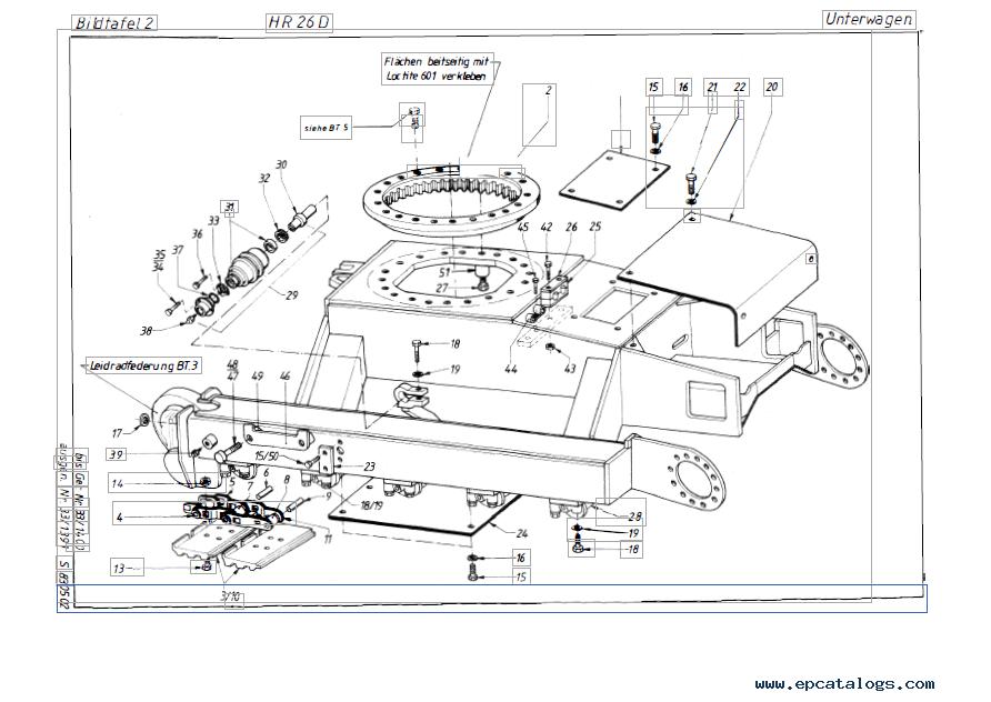 Terex HR 26 Series D Crawler Excavator Download PDF Parts