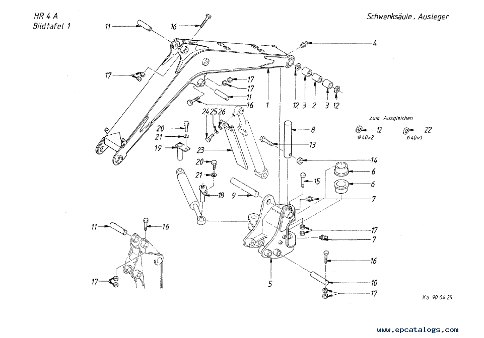 Terex Crawler Excavator HR 4 Serie A Download PDF Parts