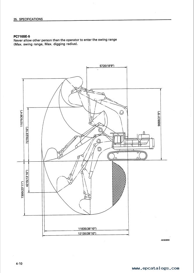Komatsu Excavator PC650/LC/SE-5, PC710/SE-5 Manual