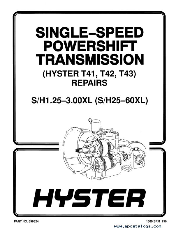 Hyster Class 4 For A187 (S40-60XL) PDF Manual Download