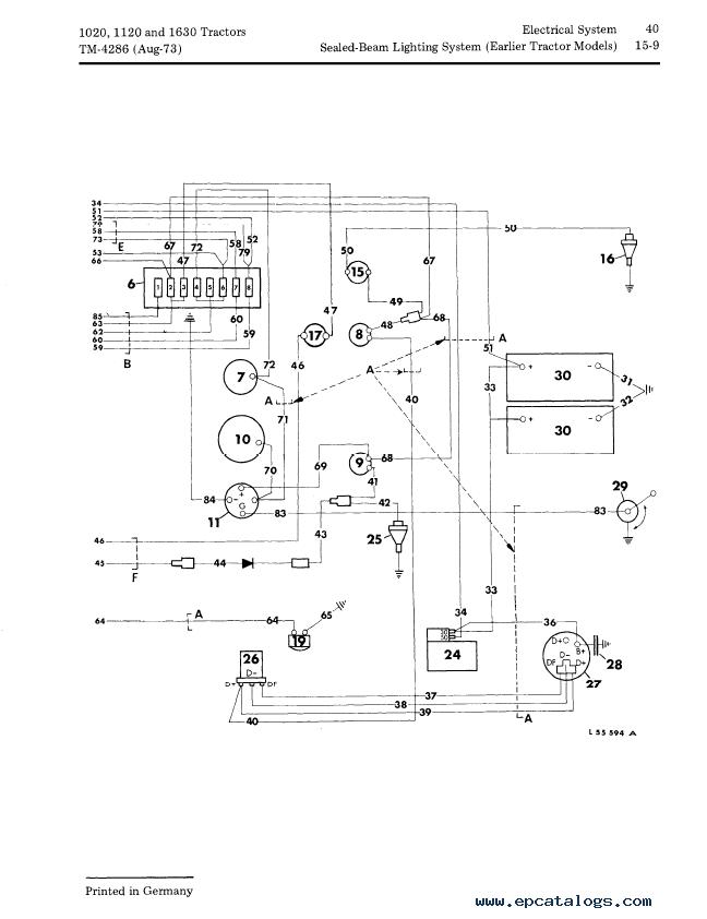 1020 John Deere Wiring Harnes Diagram