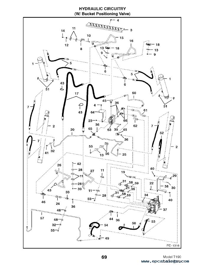 bobcat t190 diagram