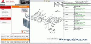 Citroen spare parts catalog book repair manual