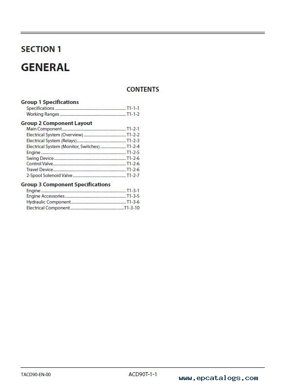 Download Hitachi Excavator ZX20U-5A Technical Manual PDF