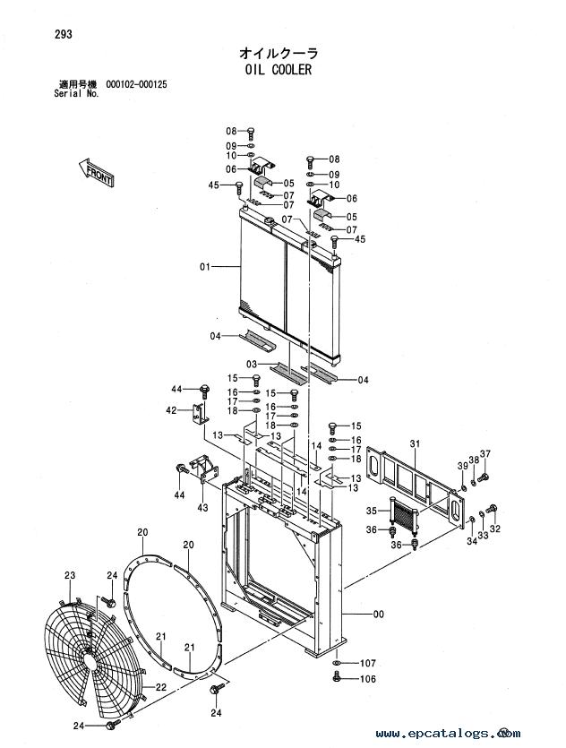 Hitachi EX1900-5 Excavator Parts Catalog (P18C-1-3) PDF