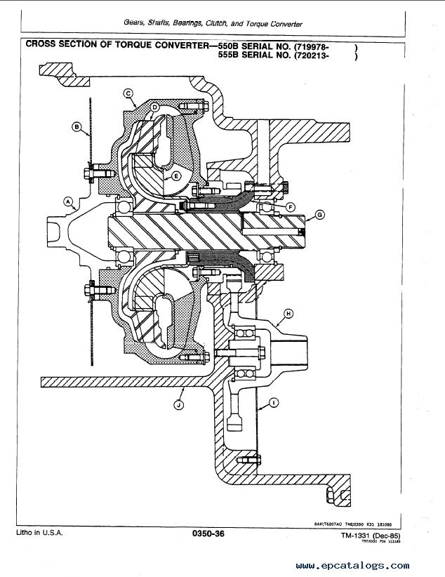 John Deere 550B 555B Crawler Loader TM1331 PDF Manual