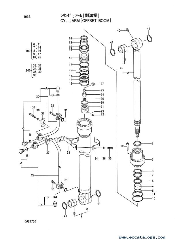 Hitachi EX100-5 Equipment Components Parts Catalog PDF