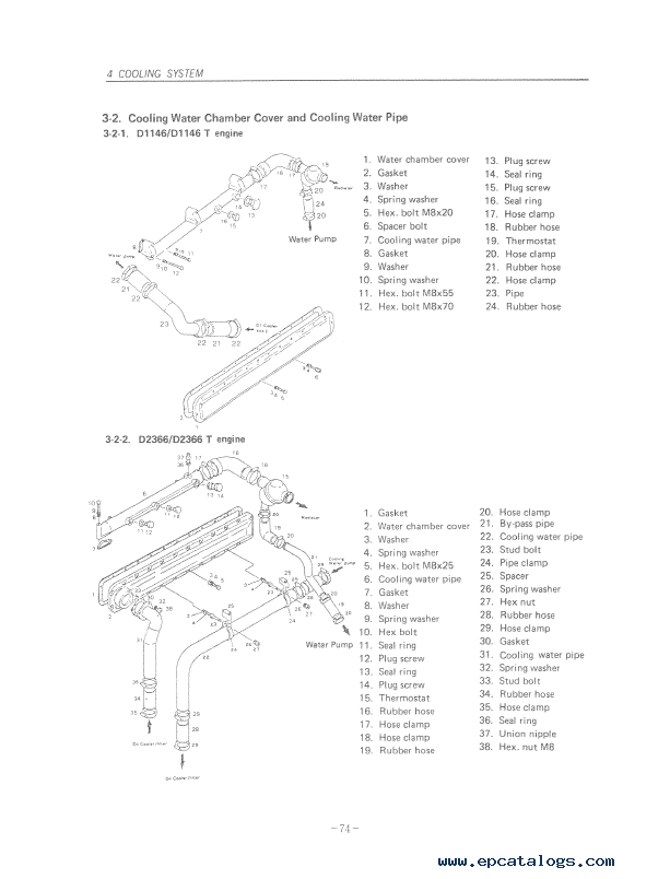 Daewoo Doosan Storm Engine D2366/T, D1146/T Repair Manual PDF