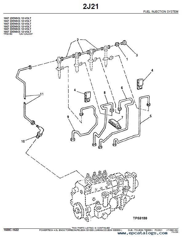 John Deere PowerTech 4.5L 4045 OEM Engines Parts Catalog