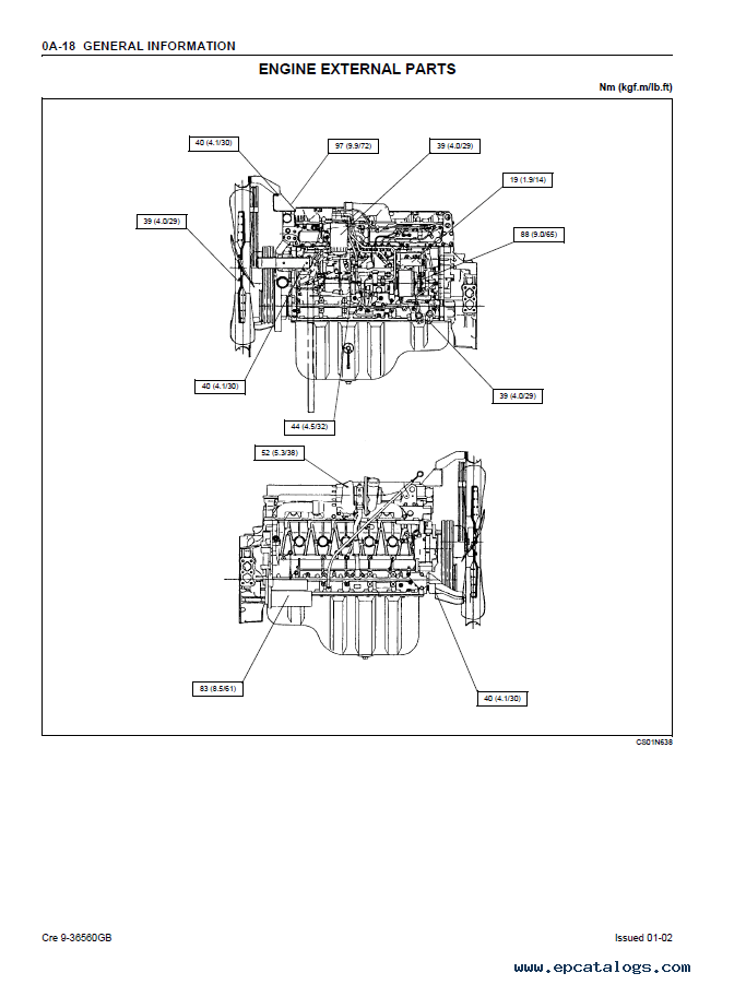 isuzu alternator wiring diagram 2004 holden rodeo stereo engine 6hk1 for case service manual pdf