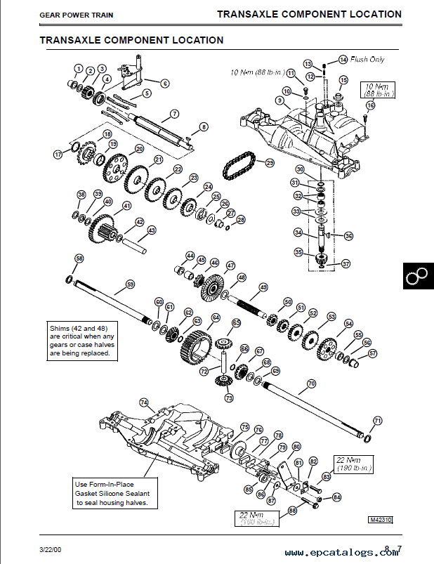 John Deere L120 Transmission Diagram John Deere 325 Parts