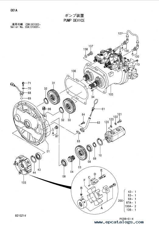 Hitachi Excavator Zaxis 210W Equipment Components Parts