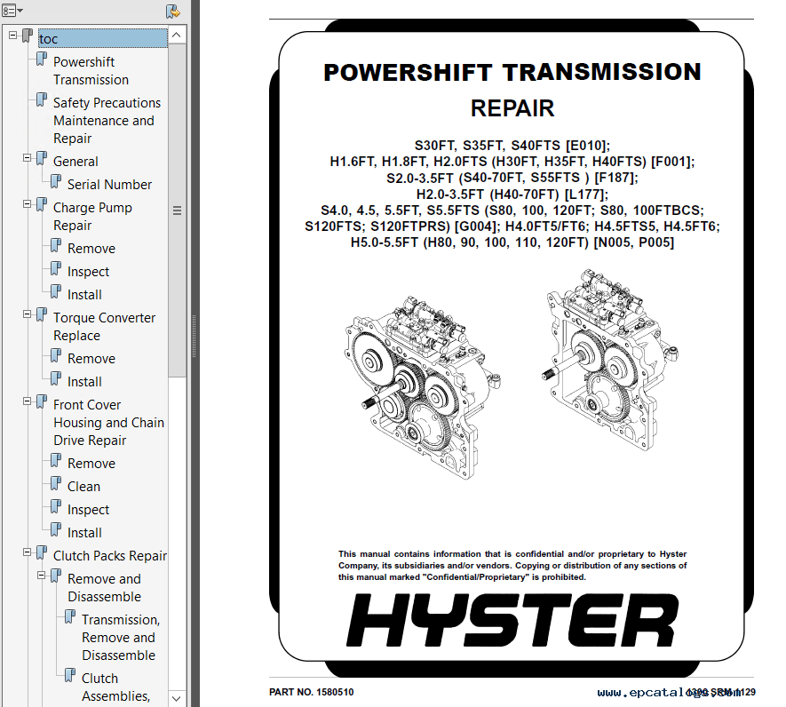 Hyster Class 4 G004 Internal Combustion Engine Trucks PDF