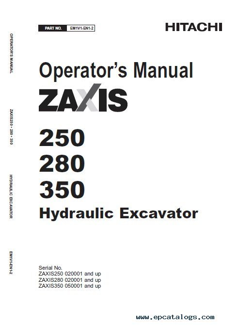 Hitachi Zaxis 200-3 class 240-3 class 270-3 class PDF Manuals