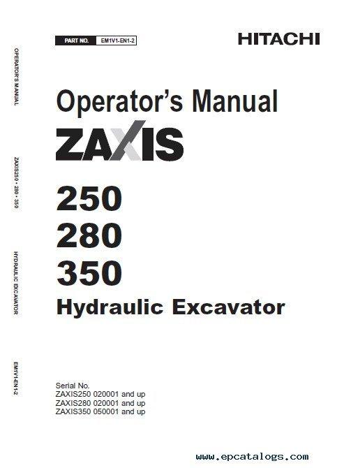 Hitachi Zaxis 200-3 class 240-3 class 270-3 class PDF Manuals