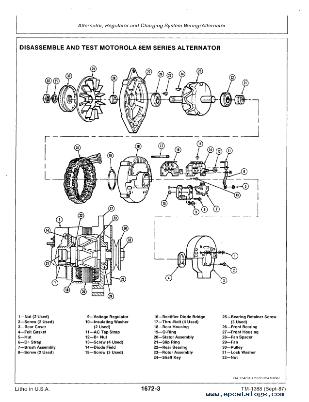 John Deere 690D, 693D Repair TM1388 Technical Manual PDF