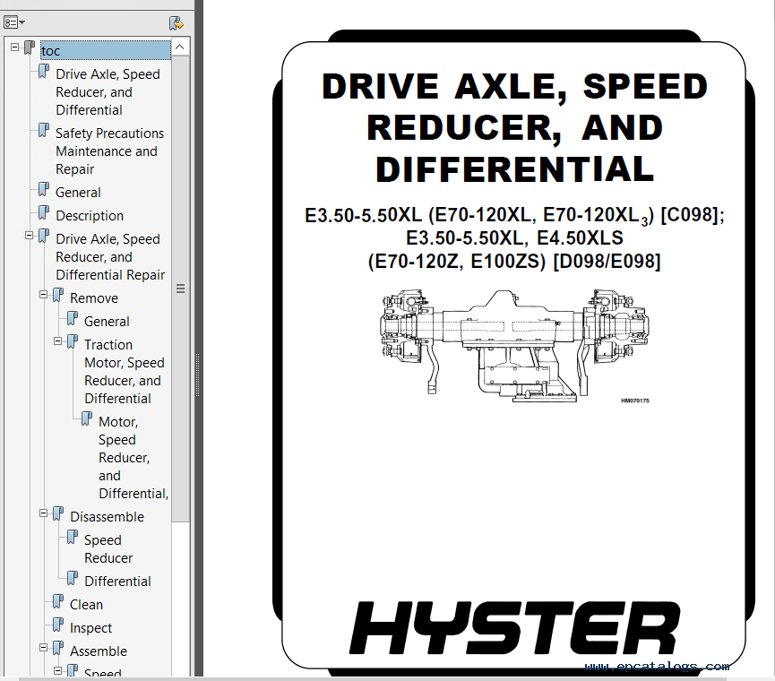 Hyster Class 1 D098 Europe Electric Motor Rider Trucks PDF