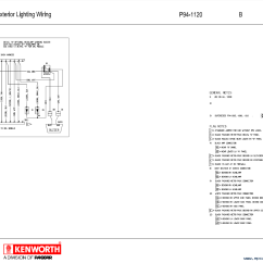 Kenworth Wiring Diagrams Wall Light Switch Diagram T2000 Electrical Manual Pdf