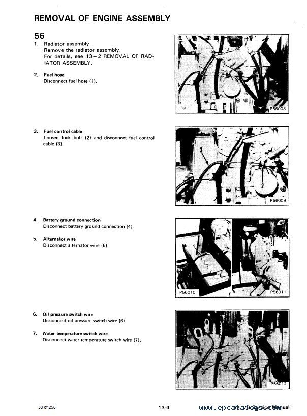 Bobcat X 56, 76 Excavator Service Manual PDF