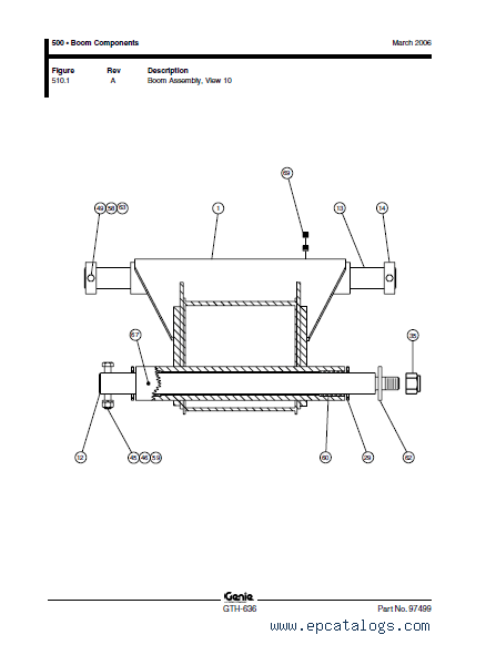 Terex GTH-636 Forklift Truck Download Parts Manual PDF