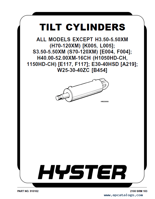 Hyster Class 5 H007 H170HD-H280HD Trucks PDF Manual