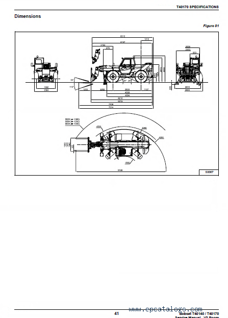 Bobcat T40140 & T40170 Telescopic Handlers Service Manual