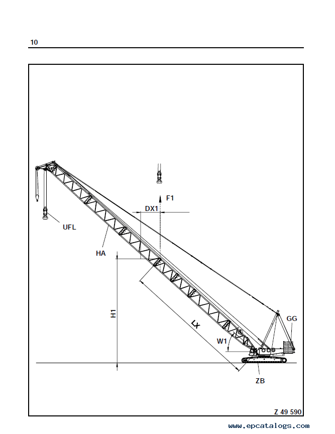 Terex Demag CC2500 450T Crane PDF Technical Training