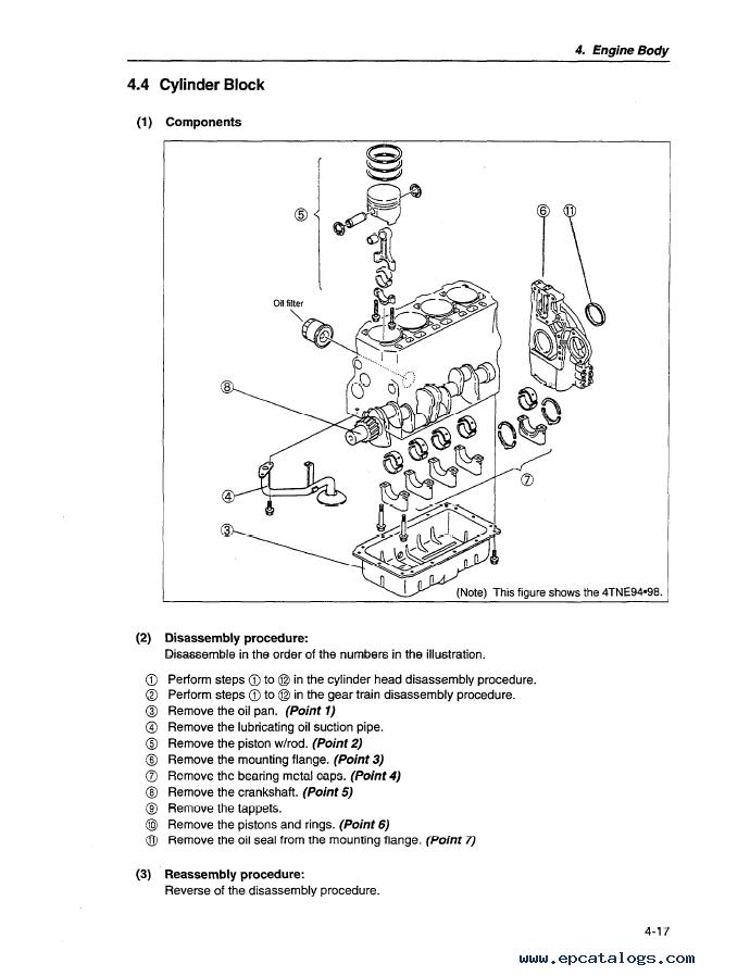 Komatsu Diesel Engine 4D98E, 4D106, S4D106 series Shop