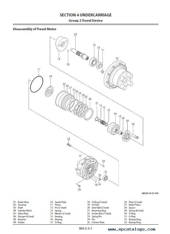 Hitachi Hydraulic Excavator ZX33U-5A Workshop Manual PDF