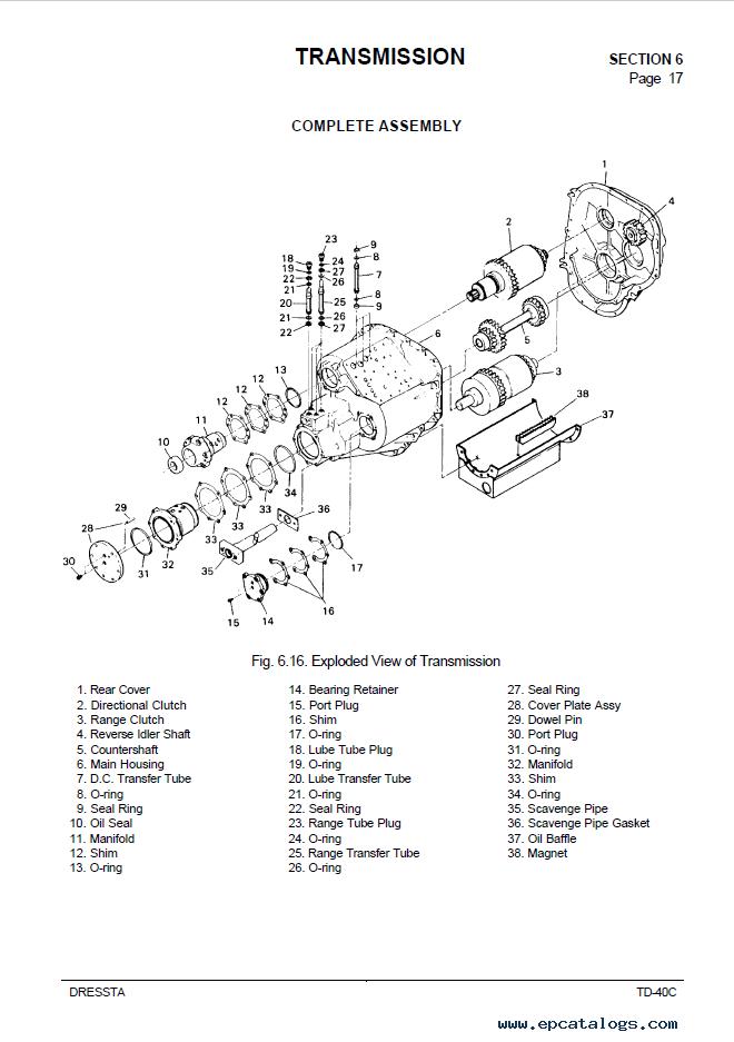 Komatsu TD-40C Bulldozers Service Manual PDF Download