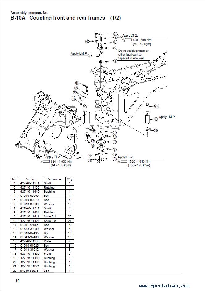 Komatsu Wheel Loader WA800-3 Assembly Manual Download