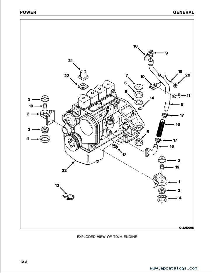 Komatsu Crawler Tractor TD7H, TD8H, TD9H Shop Manual