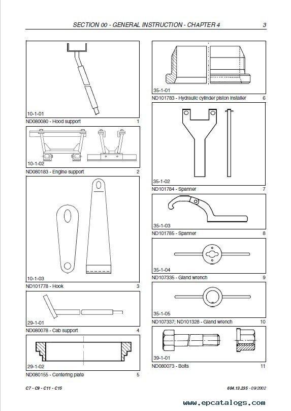 Fiat Kobelco C7 C9 C11 C15 Service Manual PDF Download