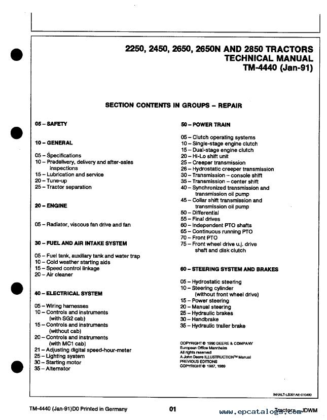 wiring diagram for motorcycles funny exercise john deere 2250 2450 2650 2650n 2850 tractor tm4440 pdf