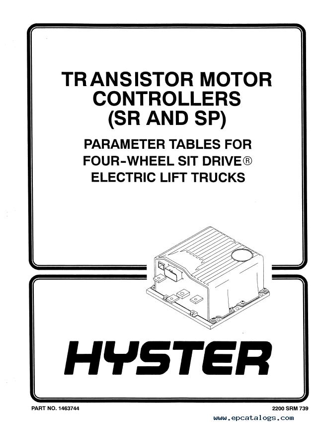 Hyster Class 1 F108 E40-65XM Electric Motor Rider Truck PDF