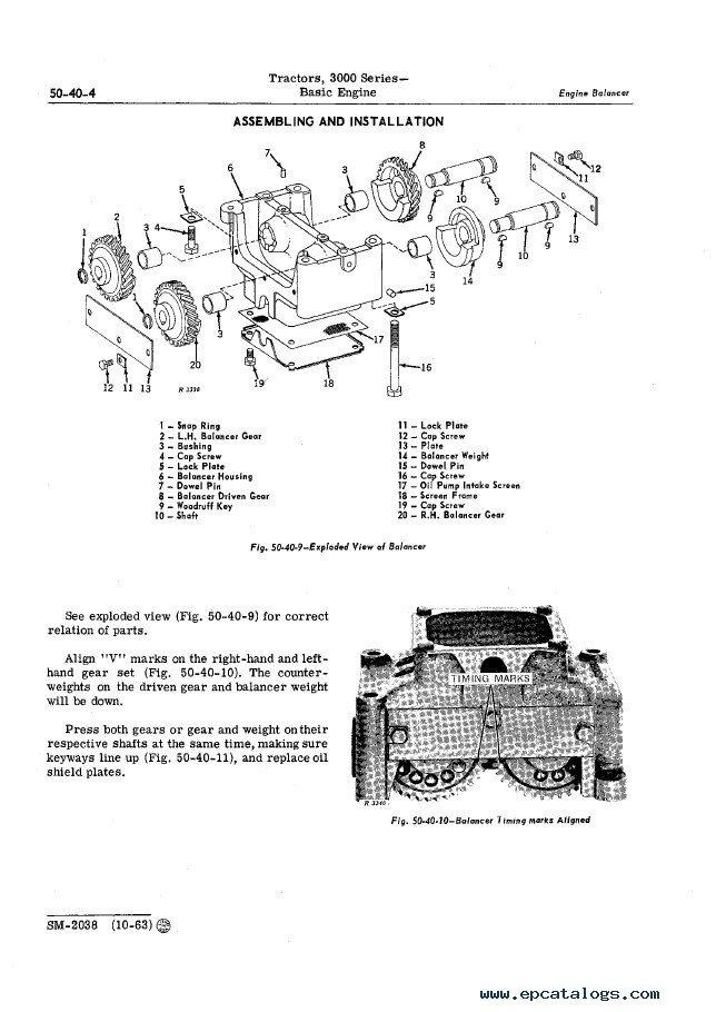 John Deere 3000 Series Tractors Service Manual SM2038 PDF