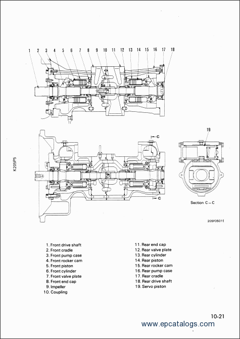 Komatsu Hydraulic Excavator PC210-5, PC240-5 Workshop Manual