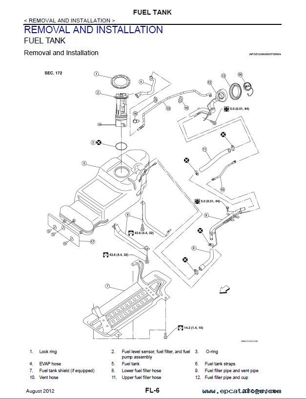 Nissan Pathfinder Model R51 Series 2012 Service Manual PDF