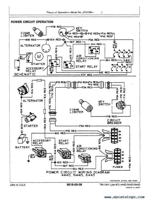 John Deere 444D 544D 644D Loader Operation Tests TM1341