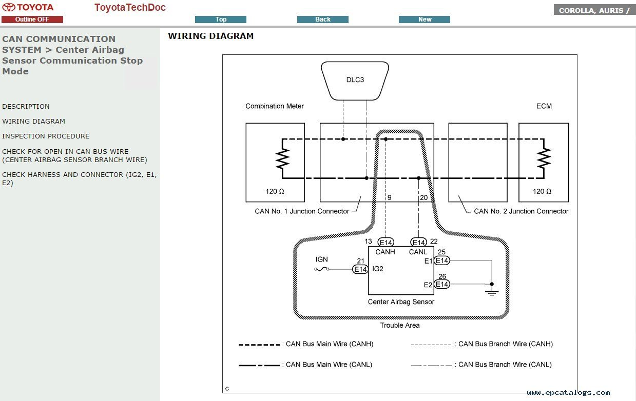 toyota auris wiring diagram rav4 exhaust system corolla pdf manual