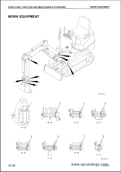 Komatsu Hydraulic Excavator PC09-1 Workshop Manual