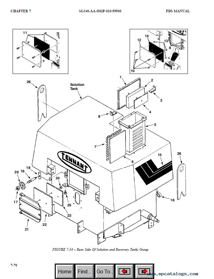 Tennant 550DN Maintenance Manual & Parts List PDF