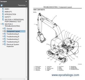 Hitachi EX1005100M51105110M5 Excavators Service Manual