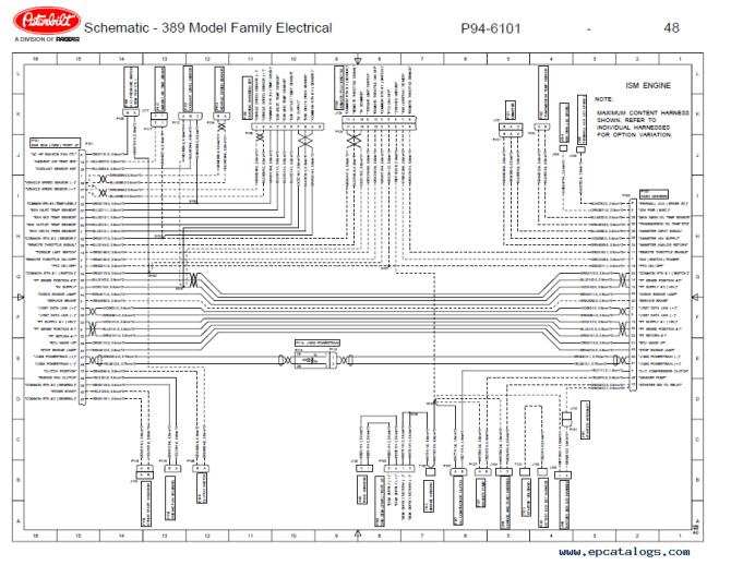 peterbilt truck 389 model family electrical schematic manual pdf