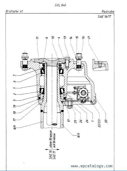 Terex SKL 840 Wheel Loader Download Complete PDF Parts Catalog