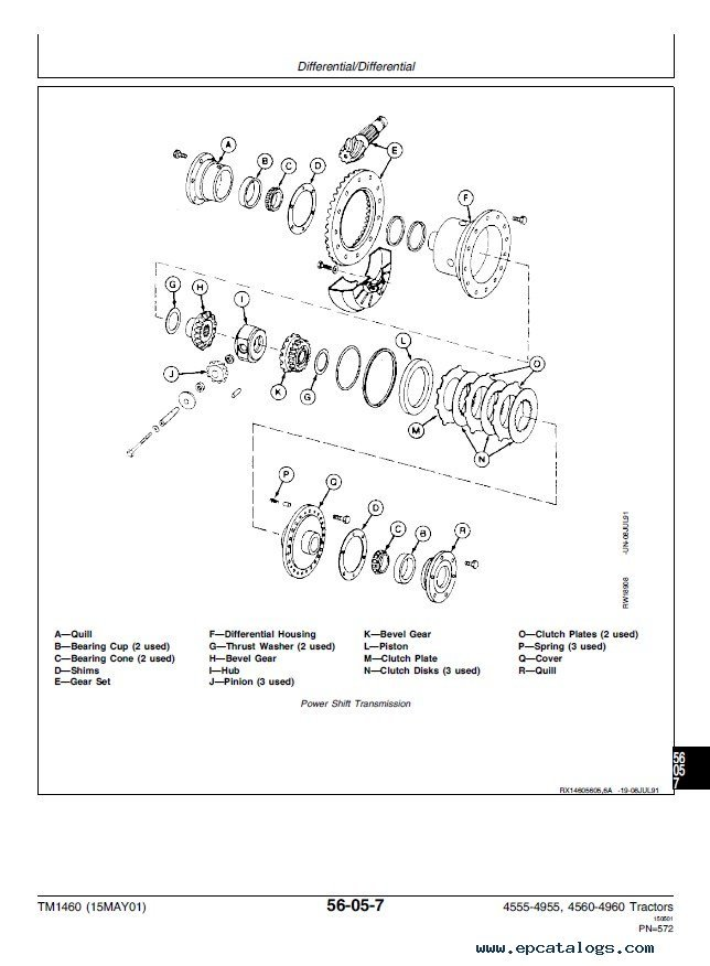 John Deere 4555 4755 4955 4560 4760 4960 Tractors PDF