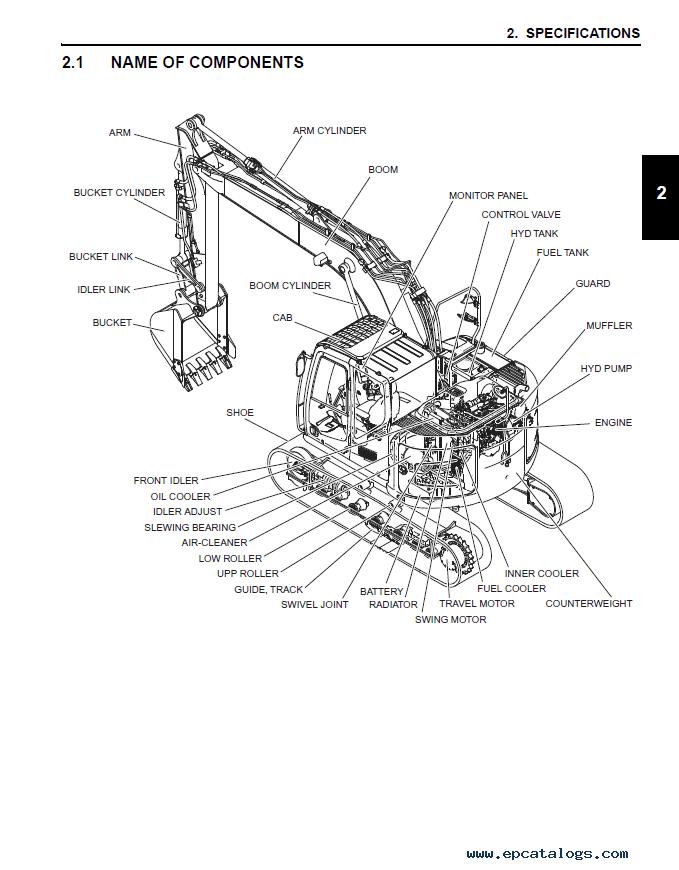 New Holland E140CSR Crawler Excavator Service Manual PDF